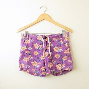 TUCKER + TATE • Drawstring Floral Tropical Shorts